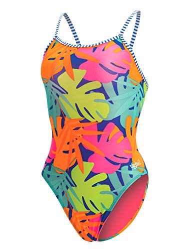 Dolfin Women's Uglies Prints Double Strap Back Swimsuit (Tropic Time, 28)