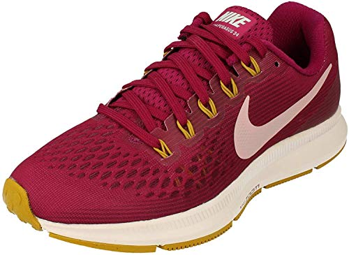 Nike Womens Air Zoom Pegasus 34 Running Shoes (True Berry Plum Chalk 607, Size 10 US)