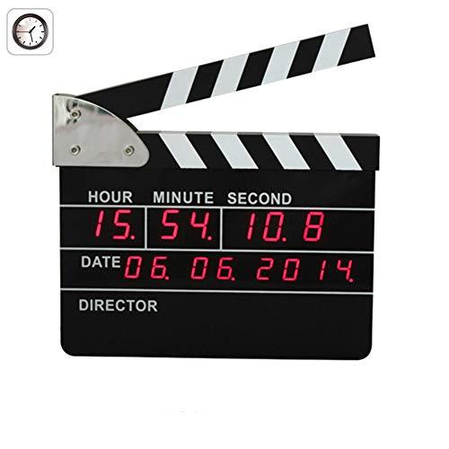 FDYD Neutro Tarjeta de chapaleta Reloj Alarma Digital Creativo del Reloj número turística para la decoración del hogar decoración Dormitorio salón (Directores Edición)