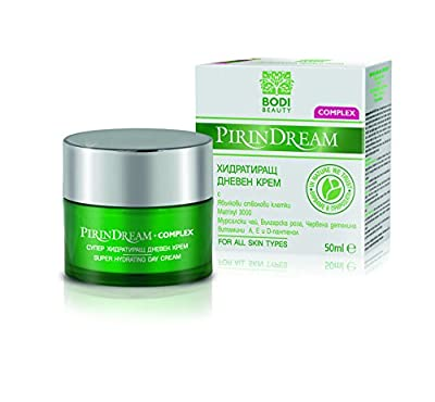 Super Hydrating Anti-Wrinkle Day Cream with PhytoCellTec™ Apple Stem Cells, Matrixyl, Mursala Tea, Bulgarian Rose & Red Clover Extracts Paraben Free 50ml from Pirin Dream