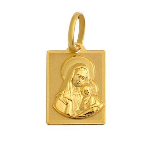 Colgante Virgen María con niño Jesús oro colgante 3338KT