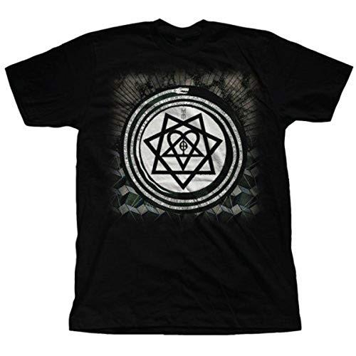 Him Herren Album Symbols T-Shirt, Schwarz - Schwarz, Large