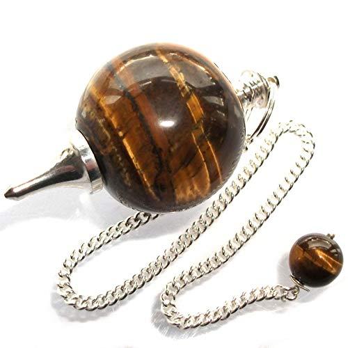 Péndulo esférico para radiestesia y sanación en Cristales de Piedra