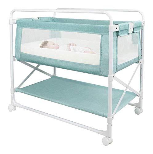 N/Z Living Equipment Unidad de Mesa Cuna de bebé Mesa de Almacenamiento de pañales Mesa de Masaje Tocador para recién Nacidos Estación Cambiador portátil Multifuncional para bebés (Color: Verde)