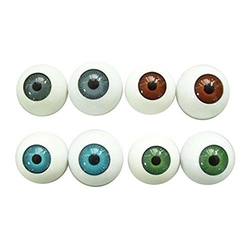TaoNaisi 8 globos oculares redondos semicirculares en forma de máscara cráneo - Prop de Halloween