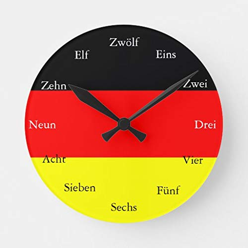 Reloj redondo alemán sin marca.