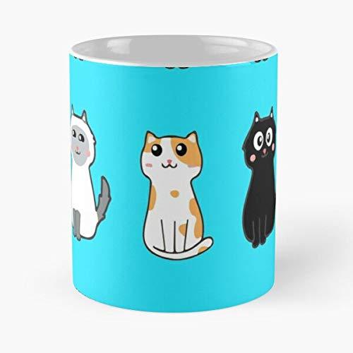 Taza de café de cerámica con diseño de gatos católicos y gatos Cheshire Aristocats come Food Bite John Best de 315 ml