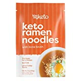 Kiss My Keto Bone Broth Noodle Soup — No Carb Shirataki Noodles + MCT Oil, Collagen (9g), 18 Amino Acids   Variety 3-Pack (Turkey, Chicken & Beef) — Instant Keto Noodles, High in Protein
