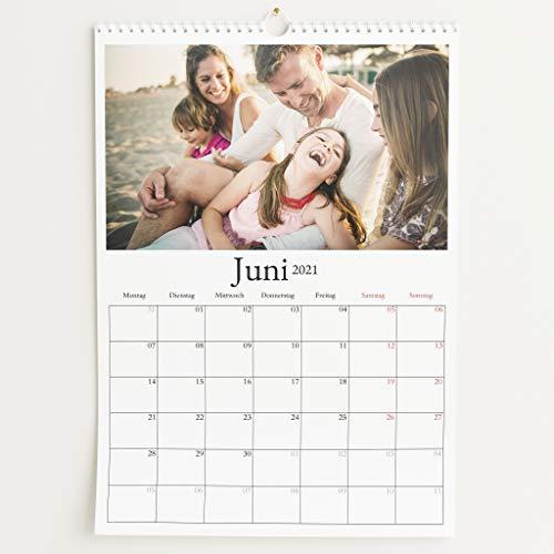 Fotokalender 2021 mit Relieflack, Schönes Jahr, Wandkalender mit persönlichen Bildern, Kalender für Digitale Fotos, Spiralbindung, DIN A3 Hochformat
