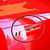 Pegatina para tapa del depósito de coche, para Alfa Romeo 147 156 166 159 Giulia GT Stelvio Giulietta Giulia Auto Styling