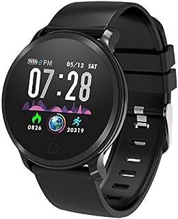 MoreFit - Reloj inteligente de fitness, resistente al agua, con monitor de ritmo cardíaco, reloj de pulsera digital con monitor de sueño, podómetro, contador de calorías para hombres y mujeres adultos