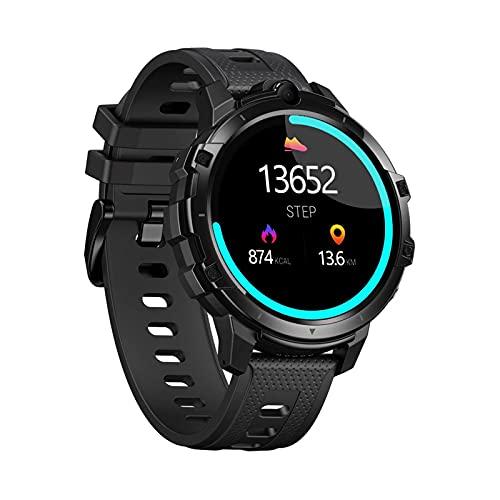 AKY 4G Smart Watch Teléfono 4GB + 64GB Android10 Sistema Operativo 2.0MP Cámara Dual Monitor De Ritmo Cardíaco, Podómetro GPS Reloj Inteligente Hombres Y Mujeres,B