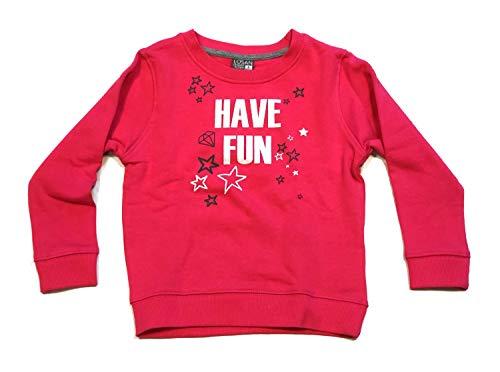 Losan Kinder Mädchen Sweatshirt Gr.92-122 Pullover Langarm pink Glitzer neu!, Größe:104