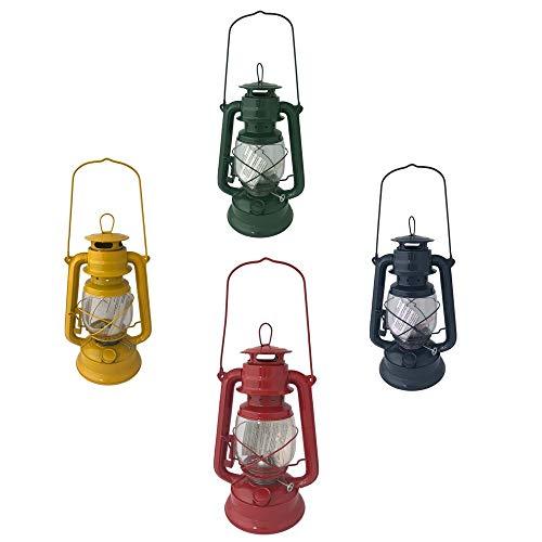 Megaprom Garten 28cm Öllampe inkl. 2 Dochte | Petroleumlampe mit Glaskolben | Sturmlaterne | Sturmlampe | Öllaterne | Tischlampe in Nostalgie Design