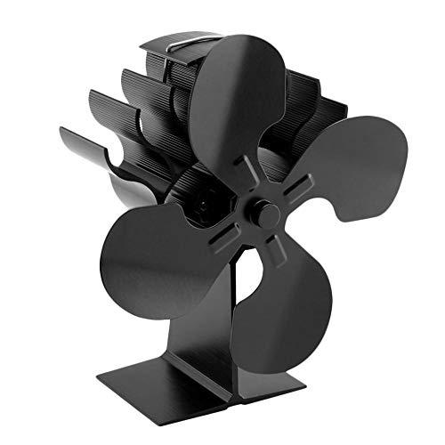 Sarplle Kaminventilator 4 Lüfter Blade Wärmebetriebene Ventilator Ofenventilator für Holzöfen KaminÖfen Stromloser Öfen (Rauschen <32 dB)