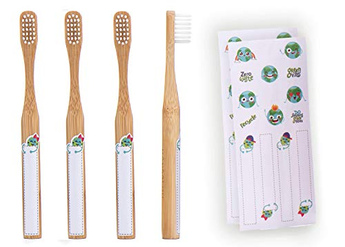 Eco-Friendly Extra Soft Bamboo Toothbrush For Kids