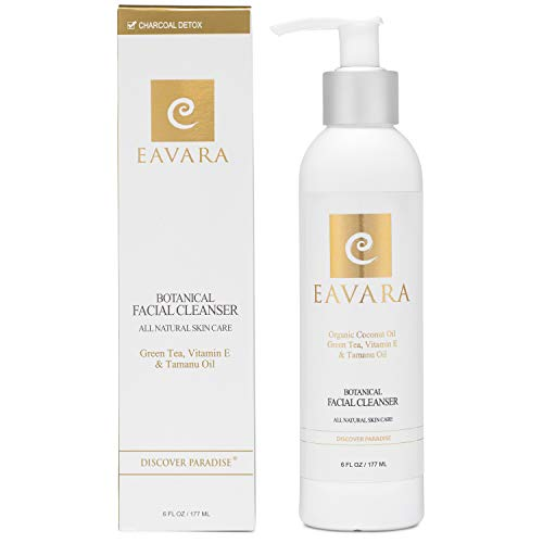 Award Winning Organic Facial Cleanser   Anti Aging   All Natural Exfoliating Pore Face Wash For Women And Men With Sensitive Skin   Moisturizing   Hydrating   Organic Tamanu & Coconut Oil