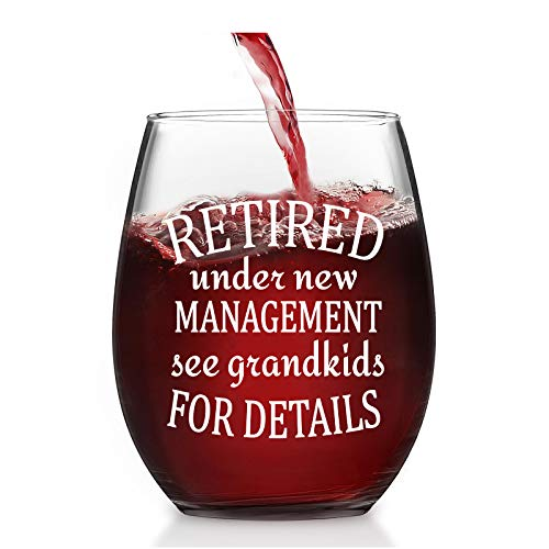 Retired Under New Management See Grandkid for Detail Stemless Wine...