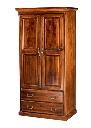 Great Deal! Forest Designs Traditional Antique Wardrobe: 60W X 72H X 21D w/Two Drawers Unfinished Oa...