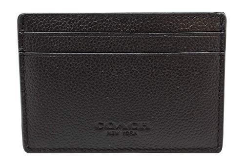 Coach Men's Money Clip Card Case Calf Leather Wallet, F75459 (Black)