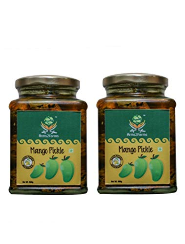 Arms2Farms 100% Pure and Organic Mango Pickle with No Artificial Flavor Or Added Color