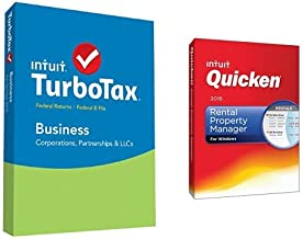 TurboTax Business 2015 Federal + Fed Efile Tax Preparation Software PC Disc with Quicken Rental Property Manager 2016 PC Disc
