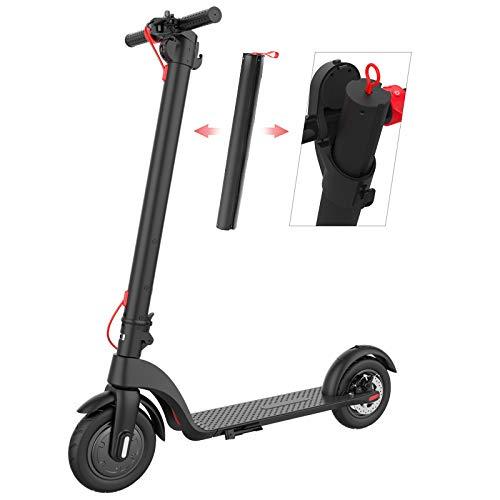 Electric Wheels | Scooter eléctrico X7 | Batería de litio extraíble única | Carga rápida | Potente motor de 350 W | Ligero y plegable para adultos y adolescentes | Control de aplicaciones | 12