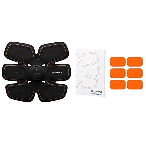 SIXPAD Unisex Ems Abdominal Trainer Training Gear Abs Fit2 Black One Size Abs Fit Fit2 Gel Sheet Pack Orange One Size