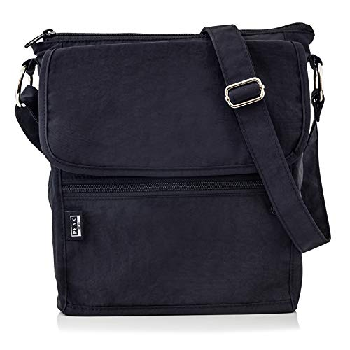 Nylon Crossbody Purse - Hidden RFID Pocket - Includes Lifetime Lost & Found ID