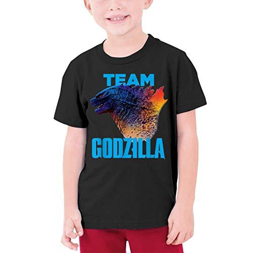 FREDDIE-ADAMS Boys Girls Shirts Cool T-Shirt Casual Short Sleeve Tee Top for Child Black Medium