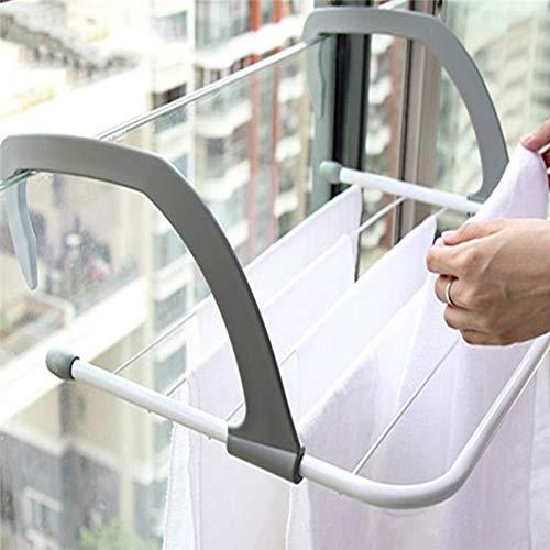林多機能折り畳み式家庭用屋内屋外のバルコニー伸縮棚乾燥ラック洋服ハンガーシューズ WXW
