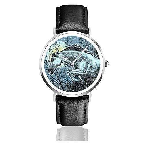 Relojes Anolog Negocio Cuarzo Cuero de PU Amable Relojes de Pulsera Wrist Watches Andaluz