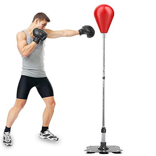 RR-YRN Equipo De Boxeo para Adultos/Niños, Bolsa De Perforación De Fitness Ajustable, con Chasis De Metal para Relajar La Bolsa De Velocidad De Boxeo, Aliviar El Estrés Y La Aptitud,Rojo
