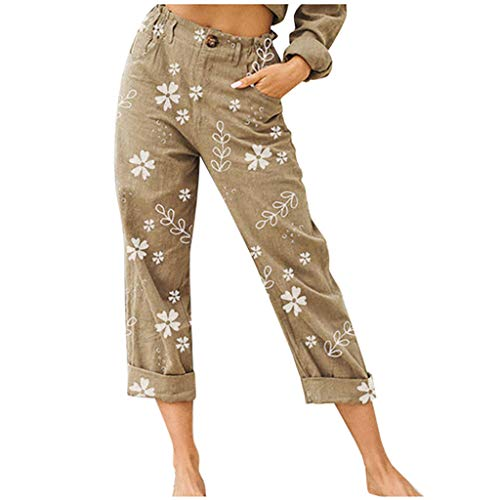Read About Toimothcn Womens Lounge Pants, Ladies Plus Size Button Print Loose Casual Straight Pants ...