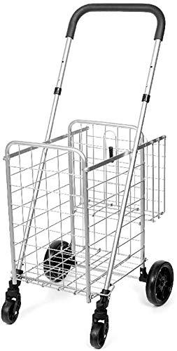 Rabbfay Supermercado De Gran Capacidad Carrito De La Compra, Subir Escaleras Compras Máximo De Carga 40 Kg, por Varios Camiones, Viaje del Equipaje De Los Carros, Bicicletas De Montaña,1