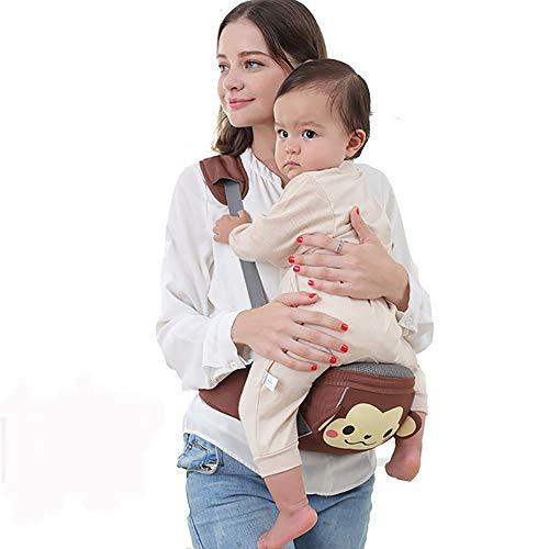 VDSON Infantino Classic Carrier Nouveau-né à Tout-Petits bébé écharpe Porte-Hanche Siège (Color : Brown, Size : L)
