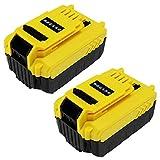 subtel 2X Batterie 18V, 5Ah, Li ION Compatible avec Stanley FMC625D2, FMC645D2,FMC675B, FMC688L, FMC675B-XE, FMC698B Accu de Rechange FMC 687L Outil portatif