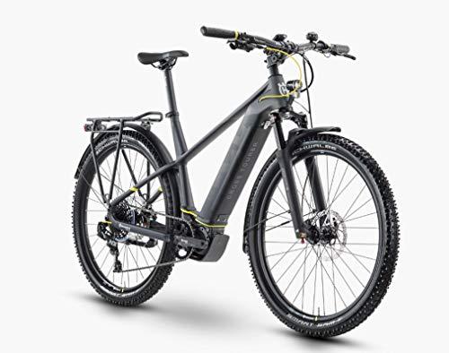 Pexco Husqvarna Cross Tourer 5 Shimano Steps Trekking Bicicleta eléctrica 2020 (27,5 pulgadas hombre diamante 45 cm, antracita/negro/amarillo (hombre)