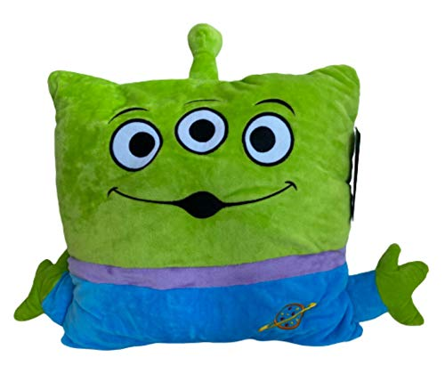 Disney Toy Story 4 Alien Face Cushion With Throw Blanket Inside