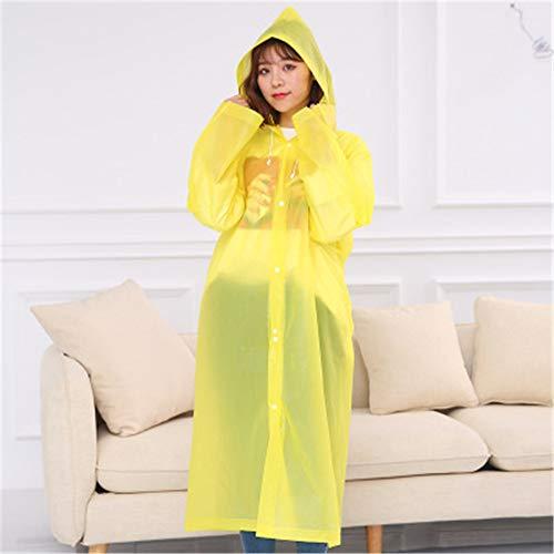 LIZHOUMIL Rian Cover Eva tragbarer, mattierter Regenmantel für Reiten, Outdoor, Wandern, Gelb, Einheitsgröße