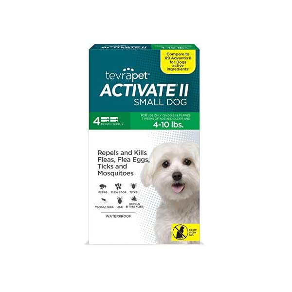 TevraPet Activate II Flea and Tick Prevention for Dogs – 4 Months Topical Flea...