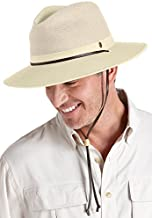 Coolibar UPF 50+ Men's Kaden Crushable Ventilated Hat - Sun Protective (XX-Large- Natural)