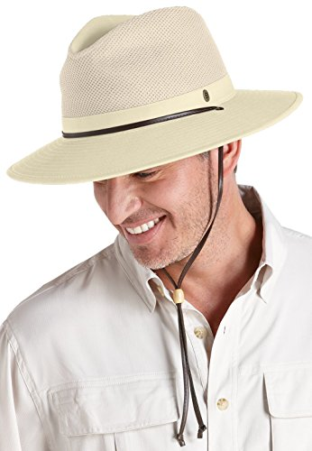 Coolibar Herren Fedora UV-Schutz 50+ Hut, Beige, L/XL (59CM)
