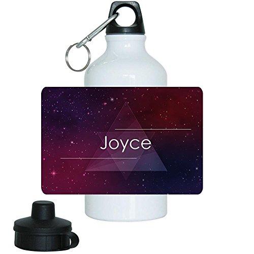 Trinkflasche mit Namen Joyce und schönem Motiv mit Universum und Sternen für Mädchen