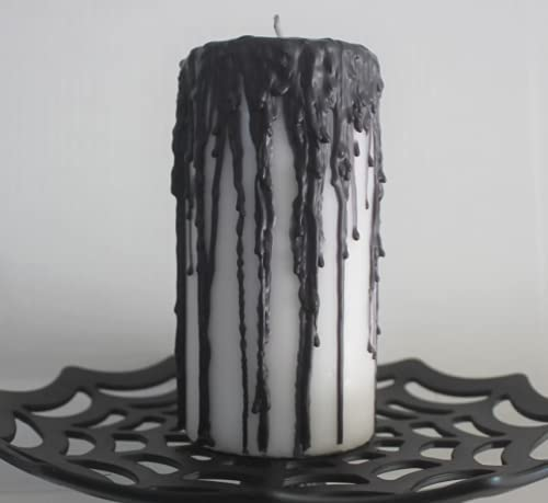 Black Dripping 3x6 inch Pillar 70% OFF Outlet Spring new work Candle Halloween
