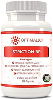 Healthy Habits OptimalXT StrictionBP 120ct - 100% All Natural & Best Proprietary Blend Hypertension Supplements w/Ceylon Cinnamon & VIT B6 – Promotes Normal Blood Pressure & Healthy Cholesterol Level