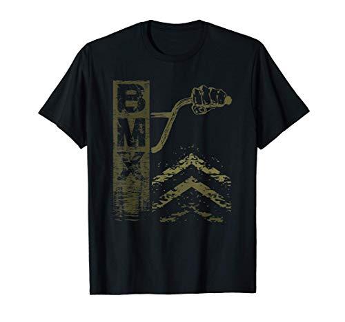 Detrás de las barras de BMX, un regalo gráfico dibujado a Camiseta
