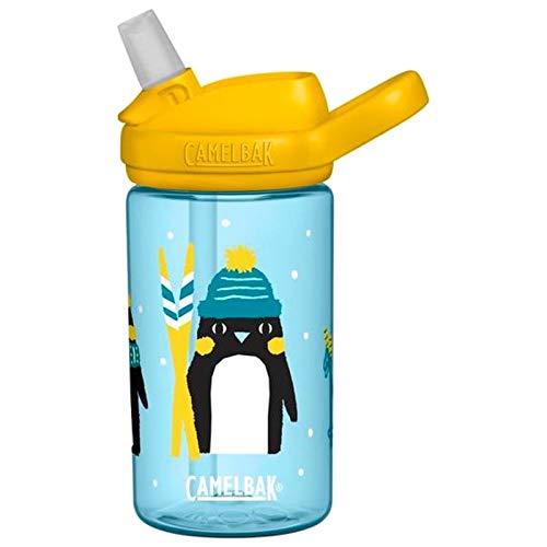 CAMELBAK Kinder Trinkflasche Eddy+ Plus Kids, 400 ml, Penguin Patrol - Hellblau Gelb, 2282