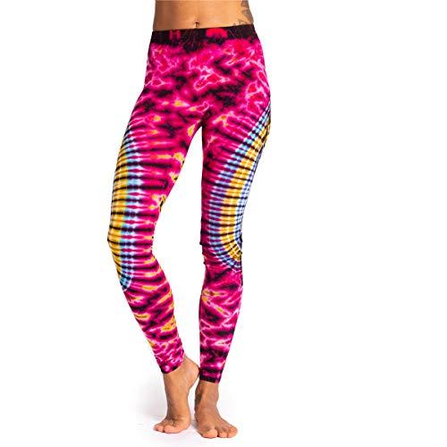 PANASIAM Batik Sport-Leggings für Damen I sehr elastisch & super-weich I von Hand gefärbt - Jede Sport Tights EIN Unikat I Top Qualität - farbecht & hautverträglich I Leggins