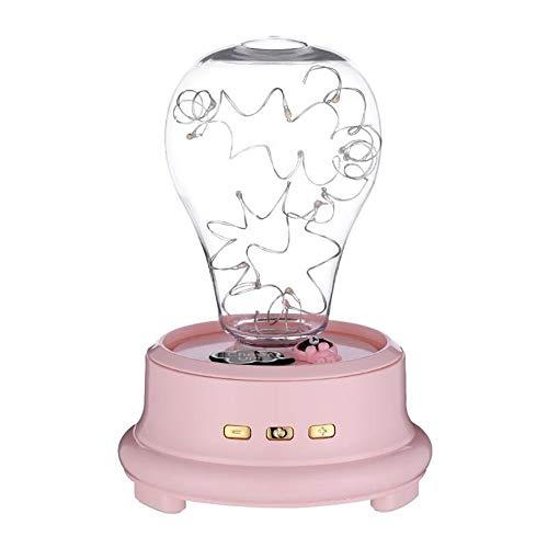 Music Box LED éclairage de Nuit Boîte Préservée Fleurs Rose DECORATIFS Boîte à Musique MJZGYY (Color : Rose, Size : Libre)